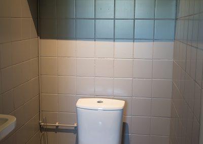 Het toilet van Vakantiehuisje Smoek Holwerd.