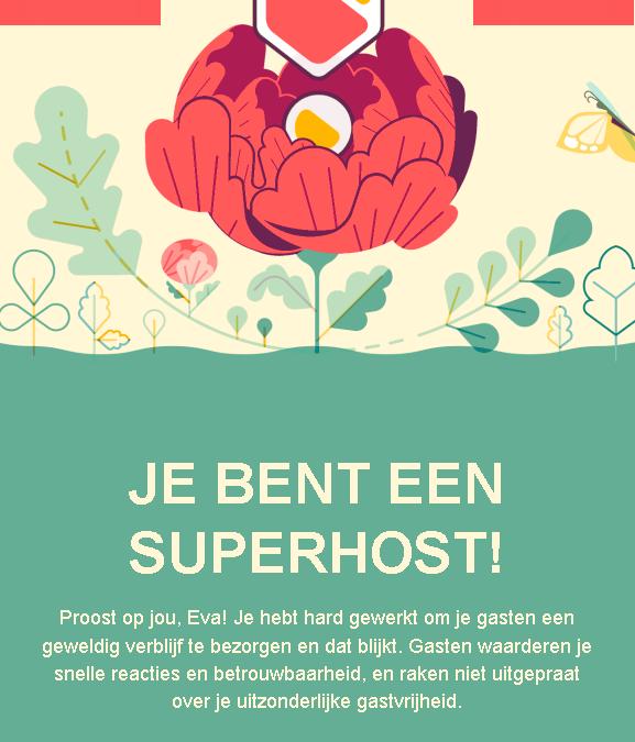 AirBnB: Je bent een SUPERHOST!