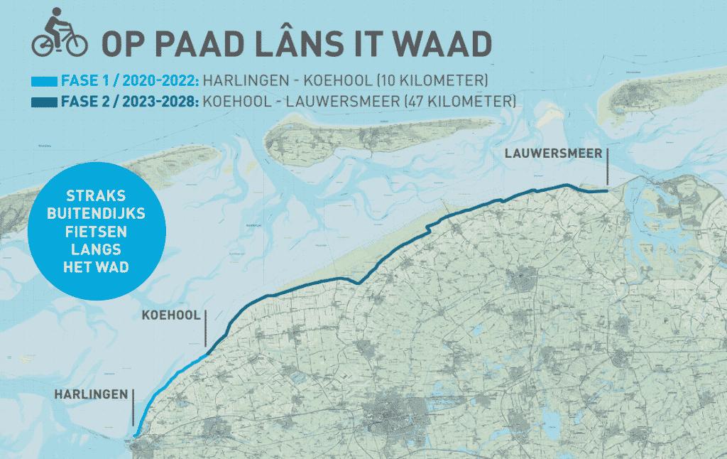 Op Paad lâns it Waad': fietsend genieten van de Wadden